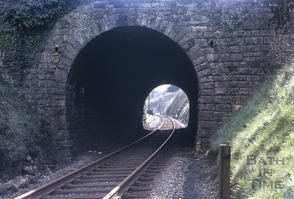 Looking through the tunnel towards Midford station 1966