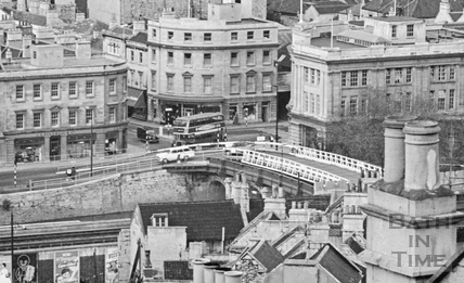 The Old Bridge, Churchill House and Southgate Street, Bath c.1966