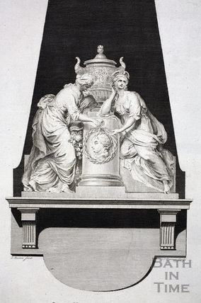 Lady Miller's Monument, Bath Abbey, Bath 1786 - detail