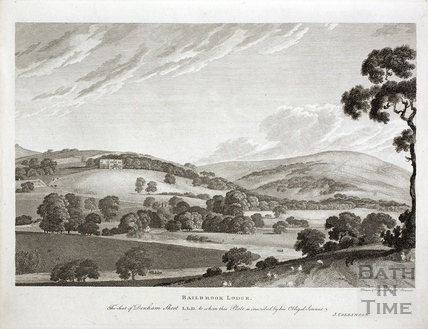 Bailbrook Lodge. The Seat of Denham Skeet L.L.D. c.1786