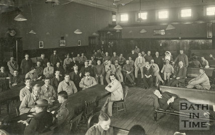 The Common Room, Bath War Hospital, Bath c.1916