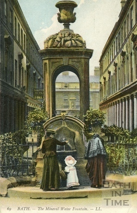 The Mineral Water Fountain, Bath Street, Bath c.1905
