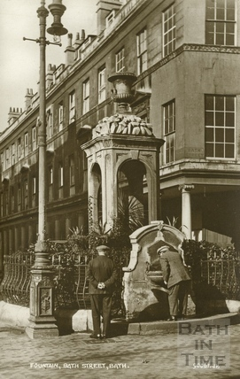 The Mineral Water Fountain, Bath Street, Bath c.1940