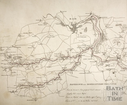 The proposed Somersetshire Coal Canal and Kennet and Avon Canal 1794 - detail