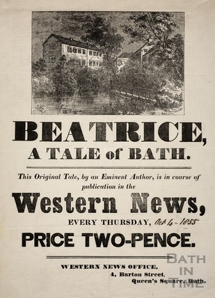 Beatrice. A Tale of Bath poster 1855