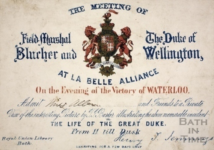 An invitation to the meeting of Field-Marshal Blucher and the Duke of Wellington, at la Belle Alliance 18th June 1815