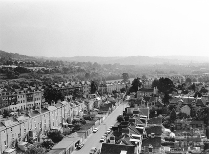 View from St. Saviour's Church tower, Larkhall, Bath 1991