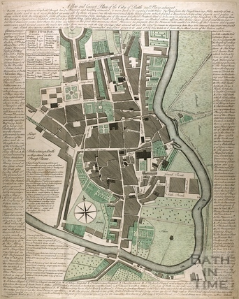 A New and Correct Plan of the City of Bath and Places Adjacent c.1770