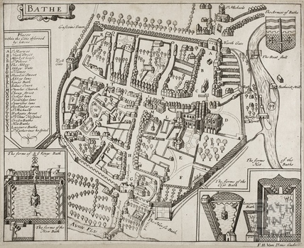 Map of Bathe (Bath) 1676