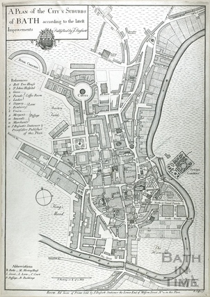 A Plan of the City & Suburbs of Bath