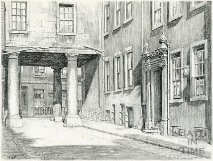 St. James's Portico by Linley House, Pierrepont Place, Bath 1939