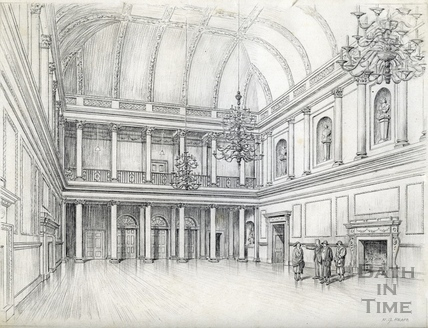 The Tea Room at the Assembly Rooms, Bath 1939