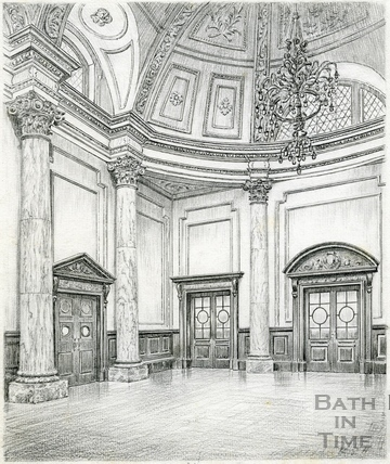 Concert Room, southern end, Grand Pump Room, Bath 1939