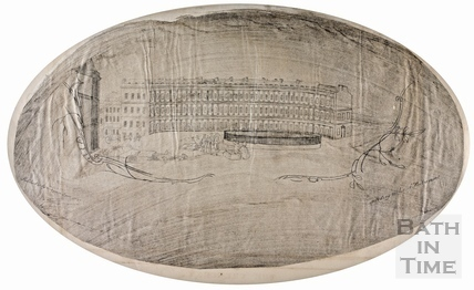 Fan view of the Circus, Bath c.1757