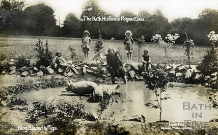 The Bath Historical Pageant. King Bladud & Pigs 1909