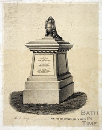 Memorial to Charles Richardson from Bath Abbey Cemetery, Bath