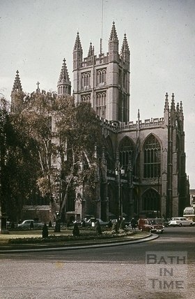 Bath Abbey from Orange Grove, Bath 1960s