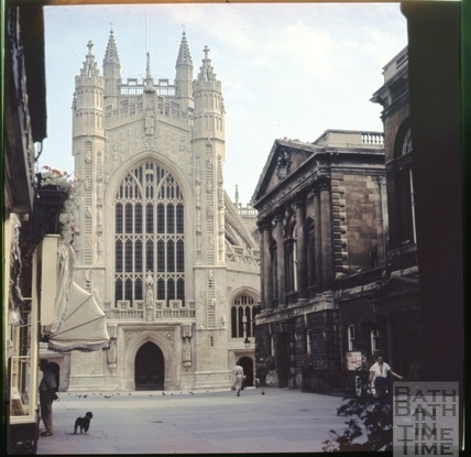 West front, Bath Abbey, Bath c.1965