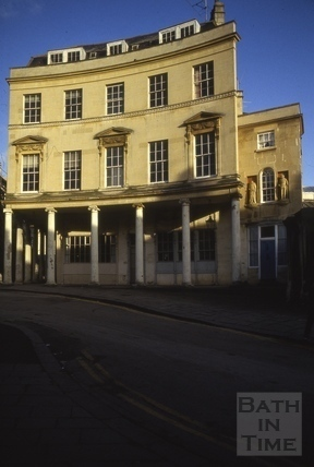 7 & 8, Bath Street from Hot Bath Street, Bath 1986