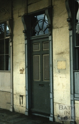 Door of 6, Bath Street, Bath 1986
