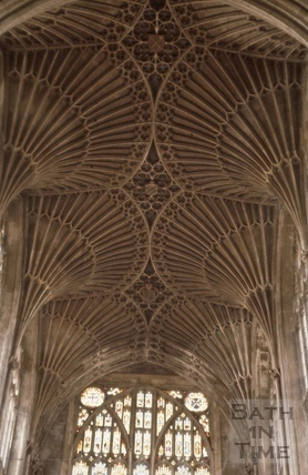 Vaulted ceiling, Bath Abbey, Bath 1963