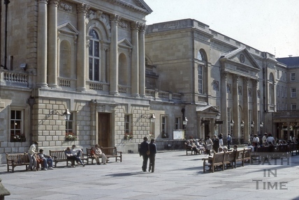 South side, Abbey Church Yard, Bath 1979