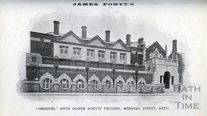 James Fortt's original Bath Oliver biscuit factory, Manvers Street, Bath c.1910