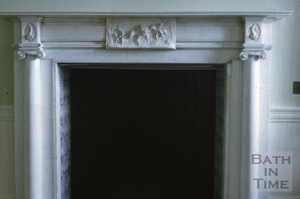 Drawing room fireplace, Titan Barrow, Bathford 1964