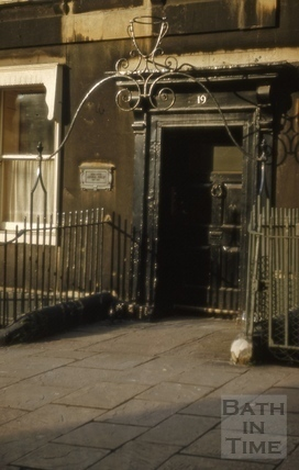 Doorway, 19, Bennett Street, Bath 1960