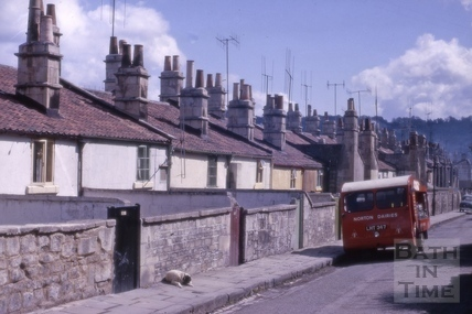 Rear of houses, Calton Road, Bath 1963