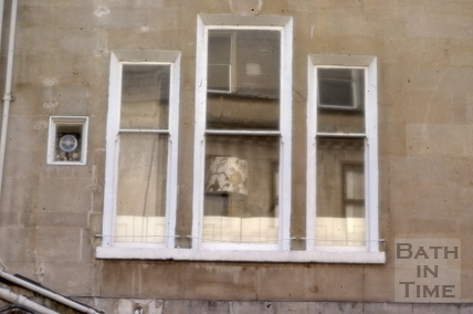 Lowered window cill, 16, Brock Street, Bath 1979