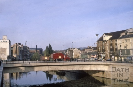 Churchill Bridge, Bath 1969