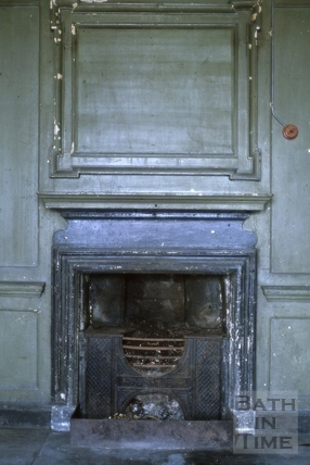 First floor front room fireplace, Chapel Court, Bath 1964?