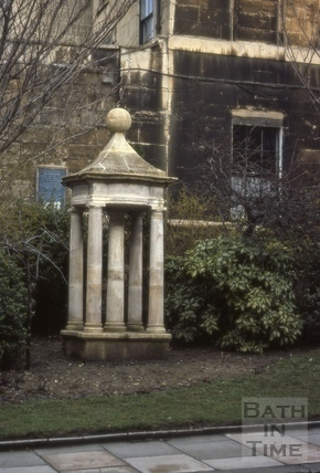 Centrepiece from the old Queen's Bath of 1789, Chapel Row, Bath 1964?
