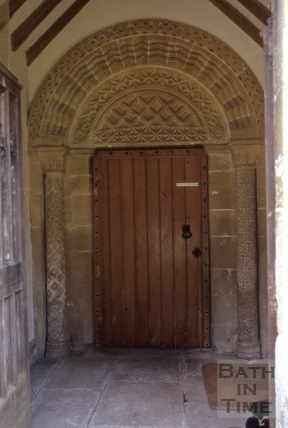 Norman doorway, St. James's Church, South Stoke 1970