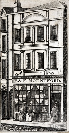 E. & F. Mountford, Bath Drapery Establishment, 24, High Street, Bath c.1840
