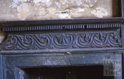 Kitchen fireplace detail, 31, Corn Street, Bath 1964