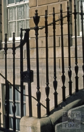Area railings, Great Pulteney Street, Bath 1973