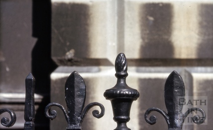 Railings detail, Guildhall, High Street, Bath 1965