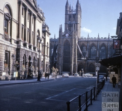 Guildhall, High Street and Abbey, Bath 1965