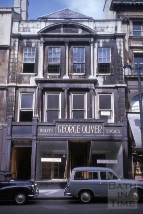 George Oliver shoe shop, 24, High Street, Bath 1964