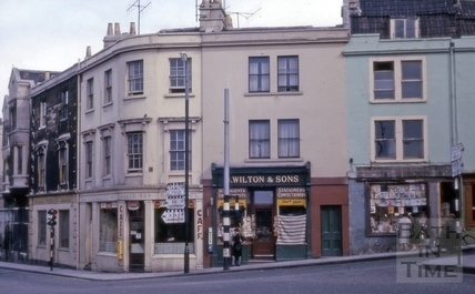 Junction of Holloway and Claverton Street, Bath 1963