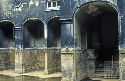 King's Bath drained, Bath c.1965