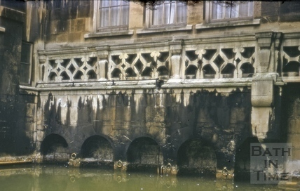 Old balustrade, King's Bath, Bath c.1965