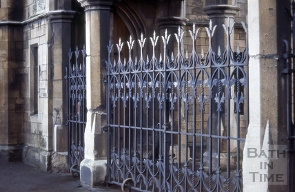 Entrance gates, St. James's Cemetery, Lower Bristol Road, Bath 1966