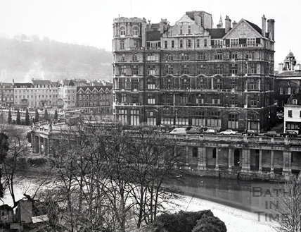 The Empire Hotel from Argyle Street, Bath 1969