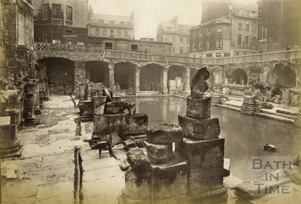 The recently discovered Roman Baths, Bath 1890 by 17422 at Bath in Time