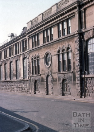 Stothert & Pitt's engineering works, Lower Bristol Road, Bath 1975