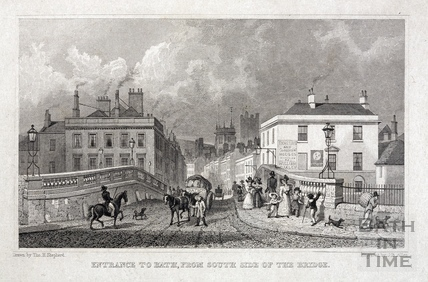Entrance to Bath, from South Side of the Bridge 1829
