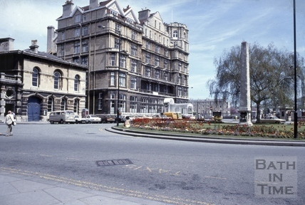 The police station and the Empire Hotel, Orange Grove, Bath 1979